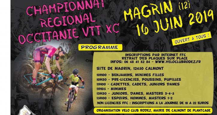 Championnat Occitanie VTT XCO   MAGRIN  le 16 06 2019
