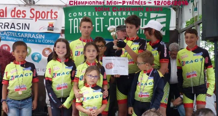 Trophée des écoles de vélo à Luc le 19 06 2016