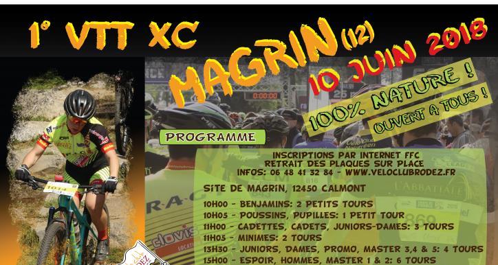 1er VTT XCO MAGRIN