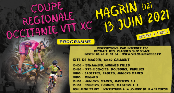 13 Juin : 3ème VTT de MAGRIN